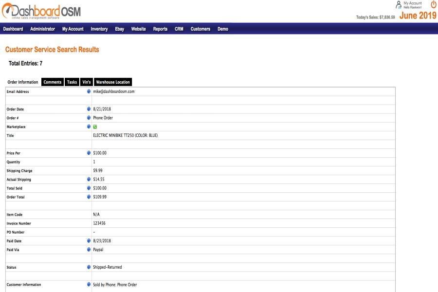 Dashboard OSM