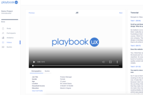 PlaybookUX screenshot