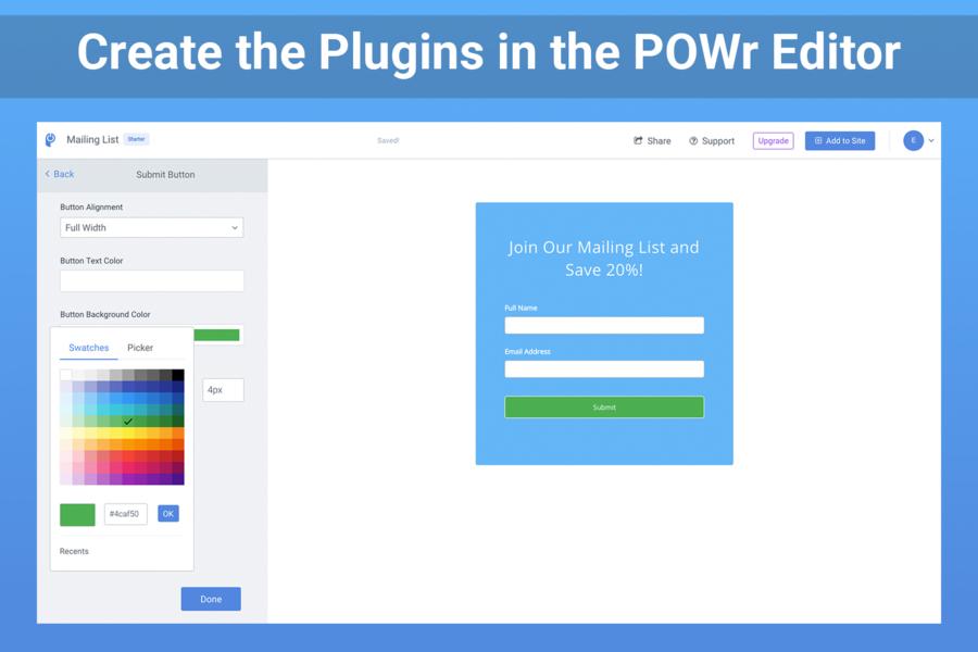 POWr Plugins