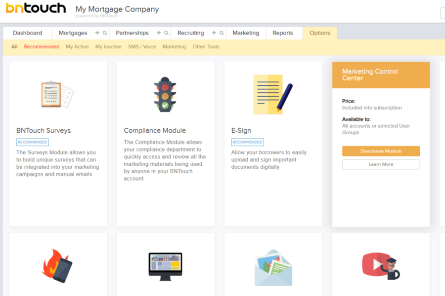 BNTouch Mortgage CRM