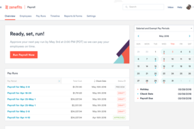 Zenefits screenshot