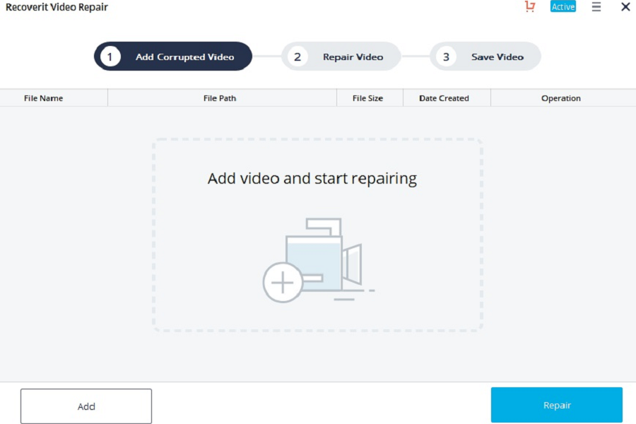 Recoverit Video Repair