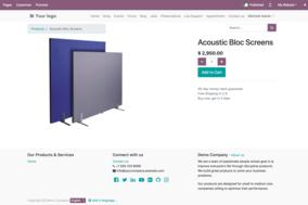 Odoo eCommerce screenshot