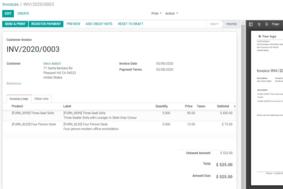 Odoo Invoicing screenshot
