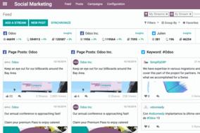 Odoo Social Marketing screenshot
