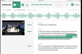 Amberscript screenshot