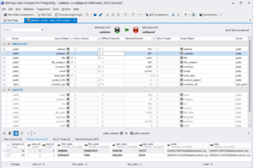 dbForge Data Compare for PostgreSQL screenshot